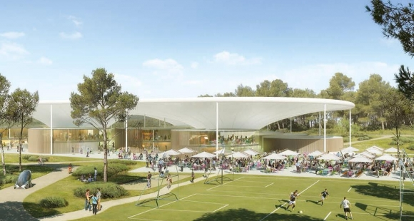 Le futur campus de Thecamp à Aix-en-Provence // © thecamp